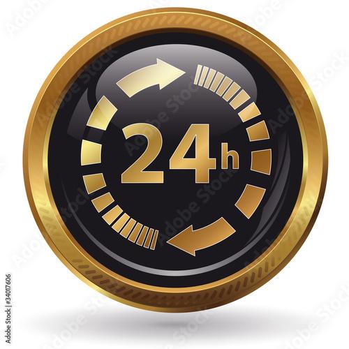24h - Button gold