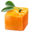 Cube orange on a white background