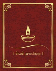 lamp ,diwali greetings card,traditional Hindu festival,India
