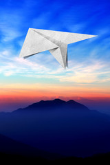 aircraft  recycled paper Travel  on view photo background