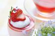 笑顔のイチゴカップケーキ