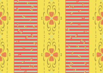 Mixed Style Pattern - Baroque and Modern Patterns