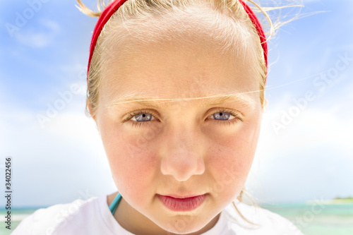 young girls face