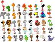 векторный набор различных милых животных