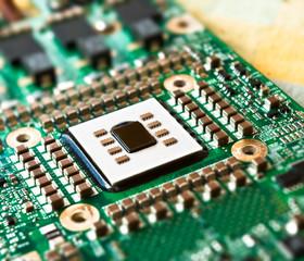 Prozessorkarte mit Silizium Halbleiterchip