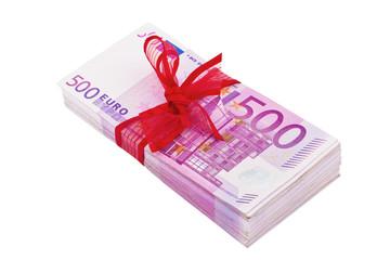 Viele 500 Eurogeld Banknoten