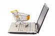 Einkaufswagen und Computer Tastatur
