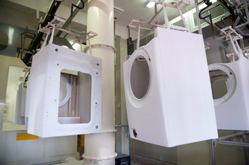 Factory: washing machine production