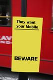 Beware sign post poster