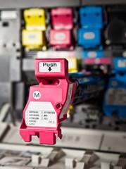 Magenta Druckwerk eines Farblaserdruckers