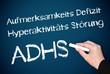 ADHS - Hyperkinetische Störung - Kreide Tafel