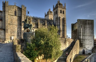 Porto Cathedral and Old City Hall, Portugal.