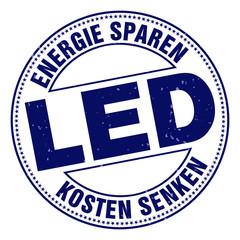 LED energie sparen kosten senken button stempel
