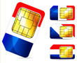 france sim card isolated on white background