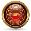 100% Qualität - Button gold