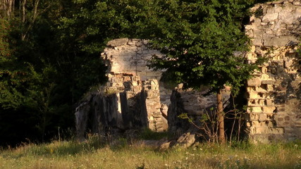 The ruins in the mountains in the North Caucasus