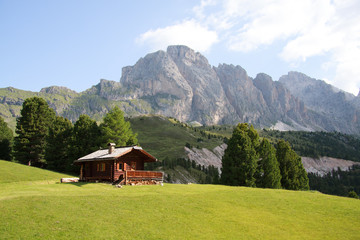 Le Odle dall'alpe di Cisles (Val Gardena)