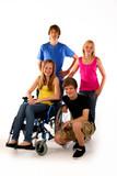 4 teenager rollstuhl