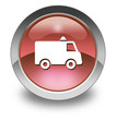 "Red Glossy Pictogram ""Ambulance"""