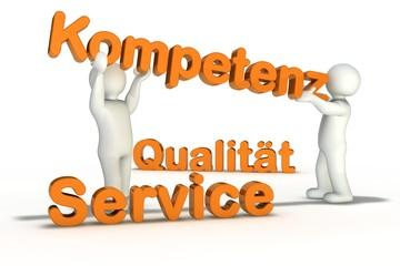 Service - Qualität - Kompetenz - mit Figuren  01