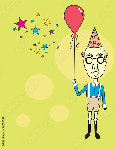 Old Man at a Party!    Vector / Clip Art