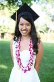 Pretty Asian Woman Graduation
