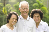 asian senior adult family