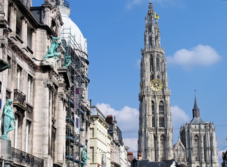 Street view of Ghent, Belgium.