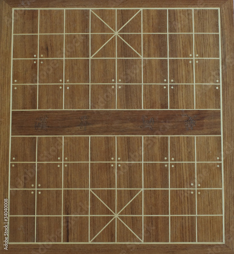 layout of a chinese chess board