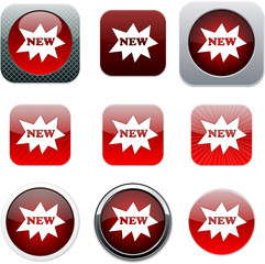 New red app icons.