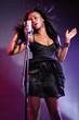 Beautiful african american girl music singer