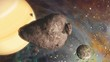 Fototapete Planet - Asteroid - Luftaufnahmen