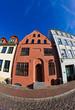 Ein historisches Gebäude in der Östlichen Altstadt von Rostock.