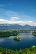 Panoramic View of  Lake Bled in Slovenia.