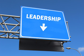 Highway sign - Leadership