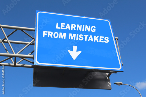 Highway sign - Learning from mistakes