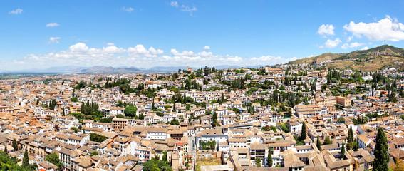 Panorama von Granada mit Albaicin, Spanien