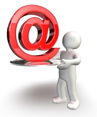 Email auf dem Silbertablett