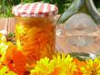 Calendulablütenansatz für eine Tinktur