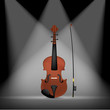 classic violin isolated on spotlight background