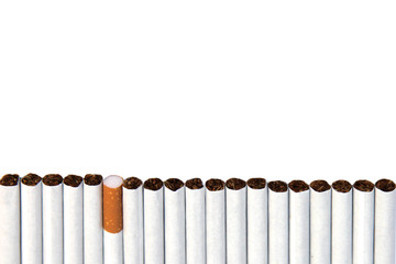 several cigarettes in a row