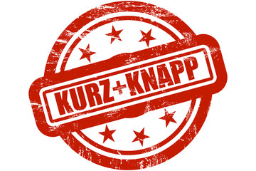 Sternen Stempel rot KURZ + KNAPP