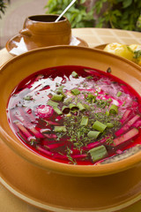 lithuanian cold  beetroot soup