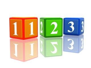 123 color cubes