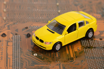 Toy car and circuit board