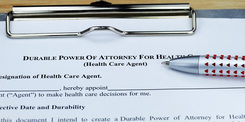 Durable Power of Attorney Health