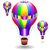 Mongolfiera Multicolore-Fire Balloon Colors-Vector