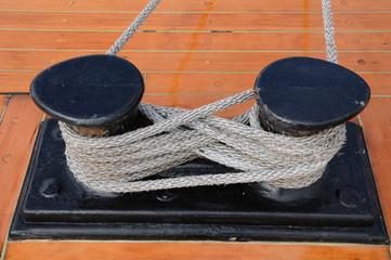 cordage sur un vieux bateau à Stockholm