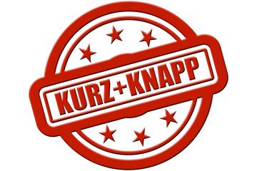Sternen Stempel rot rel KURZ + KNAPP