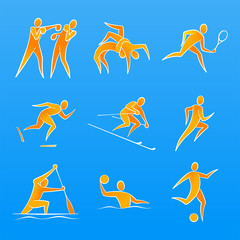 Simple vector figures of a sportsmans